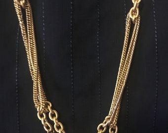 Vintage 60's Long Mult-ichain Necklace