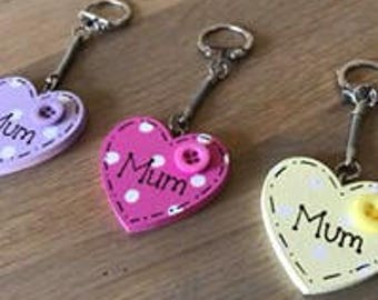 Mothers Day hand painted personalised keyring