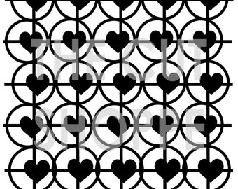 The Cross My Heart background cut file is available in 8.5x11 and 12x12 sizes, and can be used on scrapbooking & papercrafting projects.