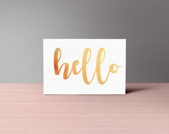 Greeting Card in Ten Different Languages