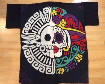 Yucatan skull and Frida inspired Rayon Kimono
