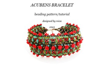Acubens Bracelet - Beading Pattern/Tutorial - PDF file for personal use only
