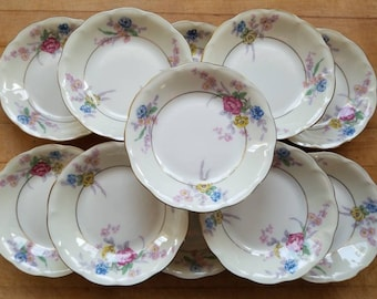 Vintage Haviland Avalon Pattern Small Dessert Bowls
