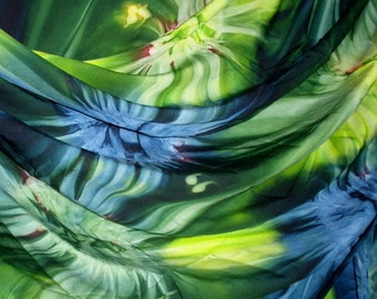 Extra large: sarong, wraparound skirt, scarf, shawl, blue-green