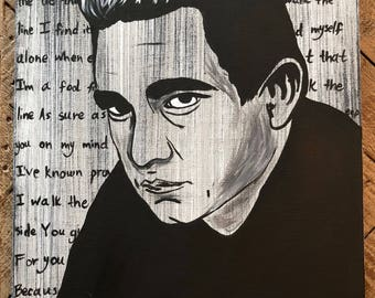 Johnny Cash  Canvas Painting