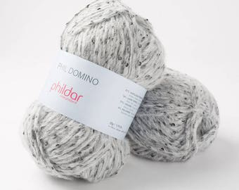 Phil DOMINO from PHILDAR colours mouse marl yarn