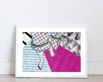 Illustration print by Marta Fofi, barefoot, art print, wall art prints,  illustration, illustration print, poster, dorm decor