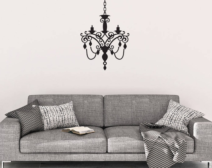Wall decals chandelier wall decal chandelier wall decor vinyl wall decal chandelier wall decals mozeypictures Images