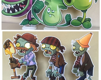 Plants vs Zombies Centerpieces, Plants vs Zombies Birthday Party Centerpieces