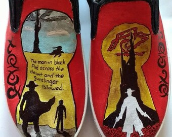 Gunslinger Dark Tower hand painted shoes