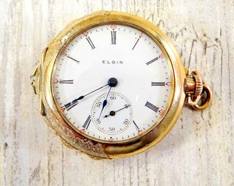 Antique Elgin Pocket Watch from 1904 ~ Women's Pocket Watch ~ In Working Condition