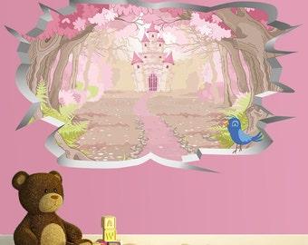 Princess Wall Hole Print