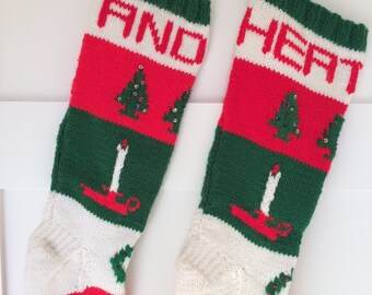 Personalized Hand Knit Christmas Stockings -  Now available for 2018