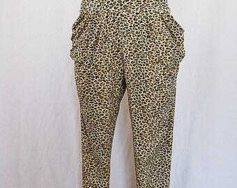 Vintage Leopard Print Pants