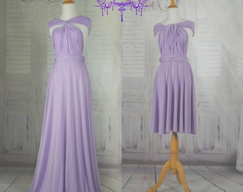 lavender dress length ball gown Infinity Dress Convertible Formal,wrap dress ,bridesmaid dress,party dress Evening dress C35#B35#