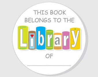 Bookplate Stickers - Labels - Baby Shower - Classroom - Teacher Personal - Child Library Book - Boy - Girl - Gender Neutral - 2.5 - 3 inch