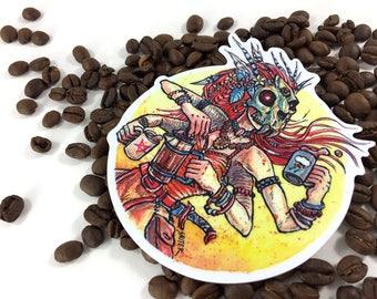 "Coffee Goddess — 4"" Vinyl Sticker"
