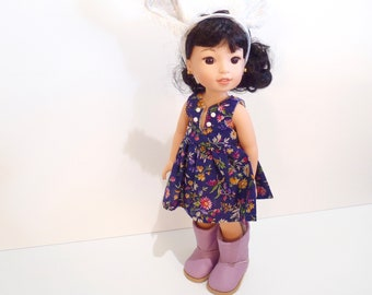 "HANDMADE Dress made to fit dolls like 14.5"" American Girl Wellie Wishers Dolls - Doll Clothes"