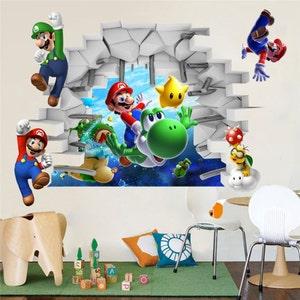 Bon Super Mario Removable Bros Kids Room Games Wall Sticker Decals Home Decor 3D