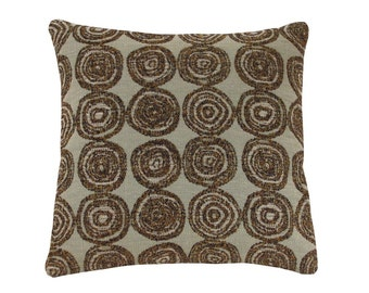 Swirl Circles Decorative Pillow 12 x 12 inches