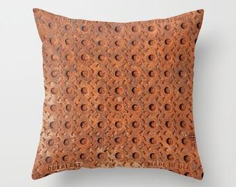 Photo Pillow Cover Decorative Rusty Pillow Rustic Pillow Urban Pillow