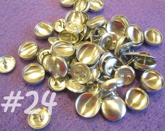 25 Cover Buttons - 5/8 inch - Size 24 wire backs/loop backs covered buttons notion supplies diy refill
