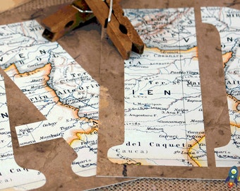 INSTANT DOWNLOAD Happy Birthday Map Banner DIY
