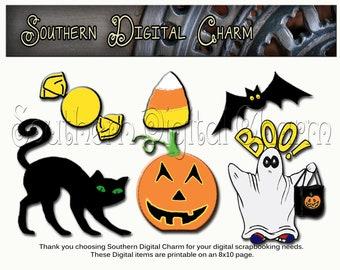 Halloween Graphics - Package 1 (Digital & Printable)