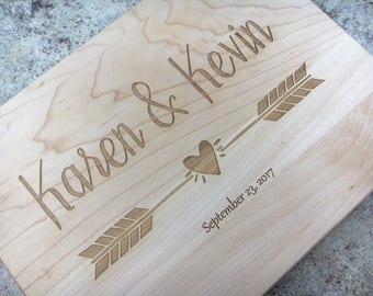 Couple Cutting Board Arrow Cutting Board Personalized Cutting Board Wedding Gift Engagement Gift Housewarming Gift New Home Gift Couple Gift