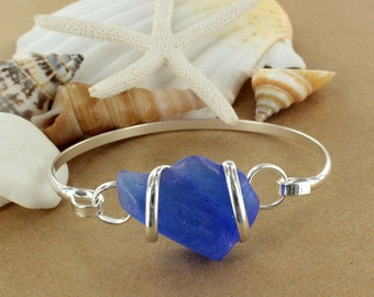 Cobalt Sea Glass Bracelet