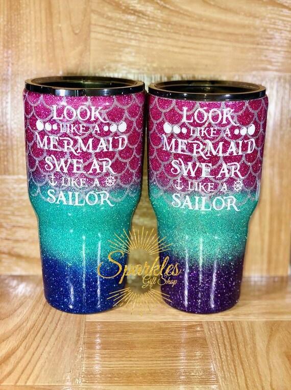 Yeti Mermaid Cup Mermaid Tumbler Personalized Mermaid