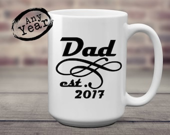 Dad est   New Dad   Pregnancy Reveal   Gift for Dad   Fathers Day   Dad Birthday   New Dad Gift   Grandpa est   New Grandpa   Grandpa Gift  