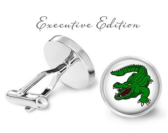 Alligator Cufflinks - Gator Cuff Links - Reptile Cufflink (Pair) Lifetime Guarantee (S0998)
