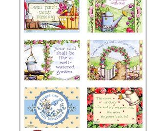 Garden Blessing Cards  Set 1 INSTANT DOWNLOAD Christian Printable Gift Tag Clip Art Crafting Bible Verse Scripture Religious KD130