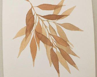 Autumn leaves Original watercolor watercolor leaf leaves collection BOTANICAS decoration.