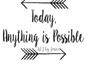 Inspirational Digital Decor-Anything is Possible