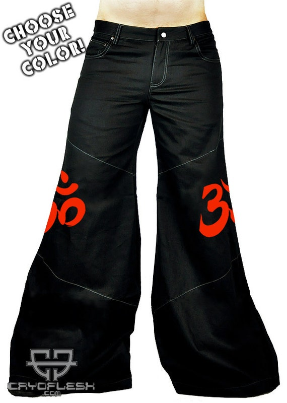 Cryoflesh OM Buddhist Cyber Goth Punk Rave EDC Tactical EBM Male Phat Pants