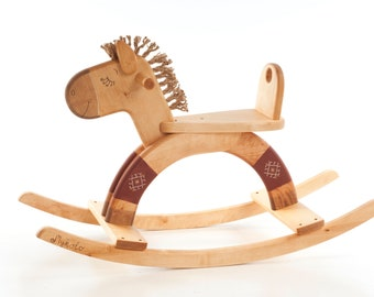 Wooden Toy, Rocking Horse, Personalized Kids Toy, Engraved Ride on Toy