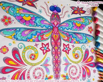 Groovy Animals Coloring Pages PDF - 20 Printable Animal Outlines to Print and Color