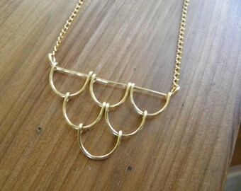"""Necklace...""""Cascades"""" Necklace beautiful handmade and hammered necklace."""