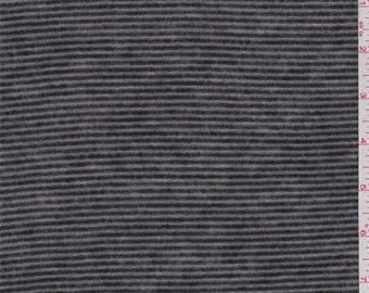 Black/Charcoal Stripe Feather Weight Sweater Knit, Fabric By The Yard