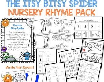 Itsy Bitsy Spider Nursery Rhyme Pack Digital Download