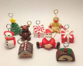 Brand instead Santa's reindeer fimo, Christmas table, Christmas decoration