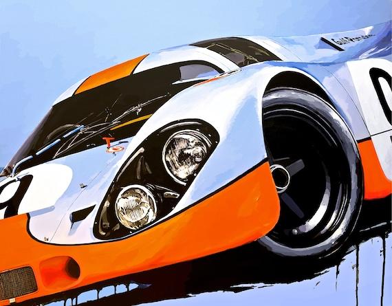 Number 9 Gulf Racing Porsche 917