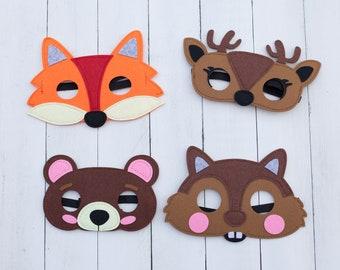 Woodland Forest Animal Masks For Children Party Favor Gift Bag Party Dress Up- Lot option
