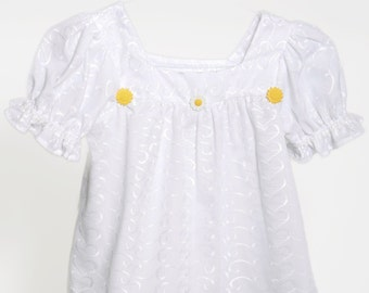 Eyelet Top, White Eyelet Top, Childs Top, Handmade Eyelet Top, White Top, Girls Top, Fashion Style Top,