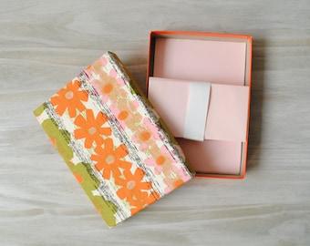 Vintage Stationery Set, Pink Paper Sheets and Envelopes