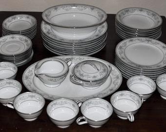 Noritake Colburn China Complete set 52 Piece & Noritake dinnerware | Etsy