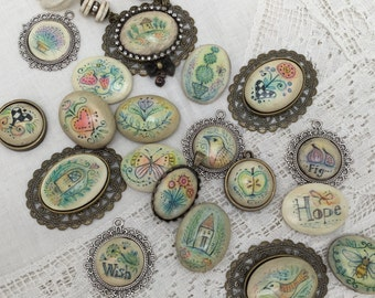 Online Class Whimsical Cabochons by Julie Haymaker