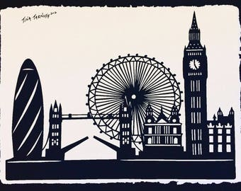LONDON Papercut - Hand-Cut Silhouette